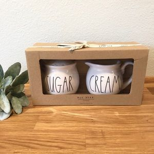 Rae Dunn SUGAR CREAM set